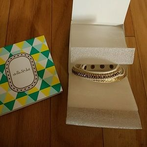 Gilded path double wrap bracelet